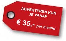 adverteren vanaf € 35 per maand